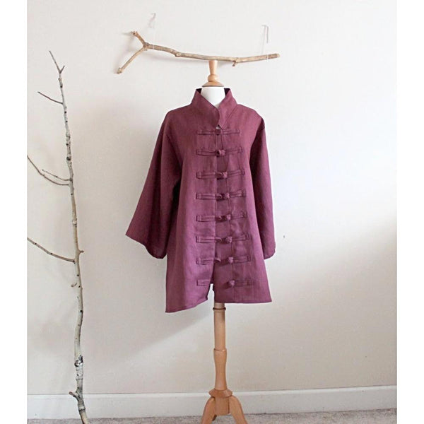 custom heavy linen jacket for all sizes - linen clothing by anny