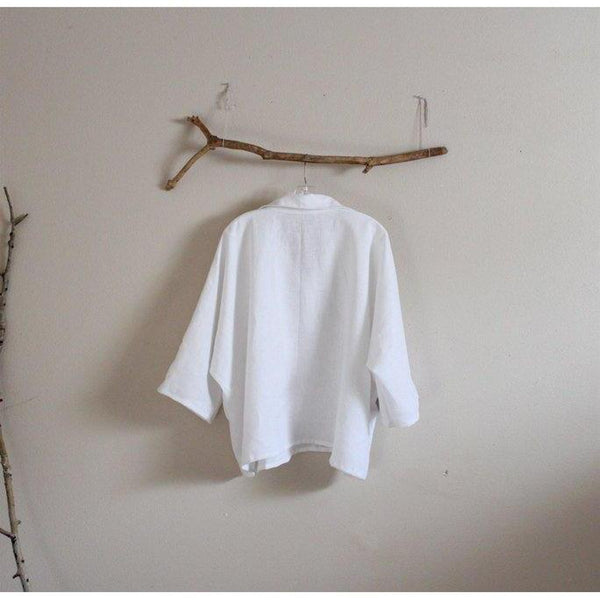 oversized linen shirt top made to order