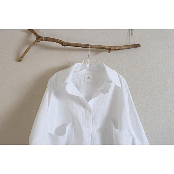 custom plus size linen shirt - linen clothing by anny