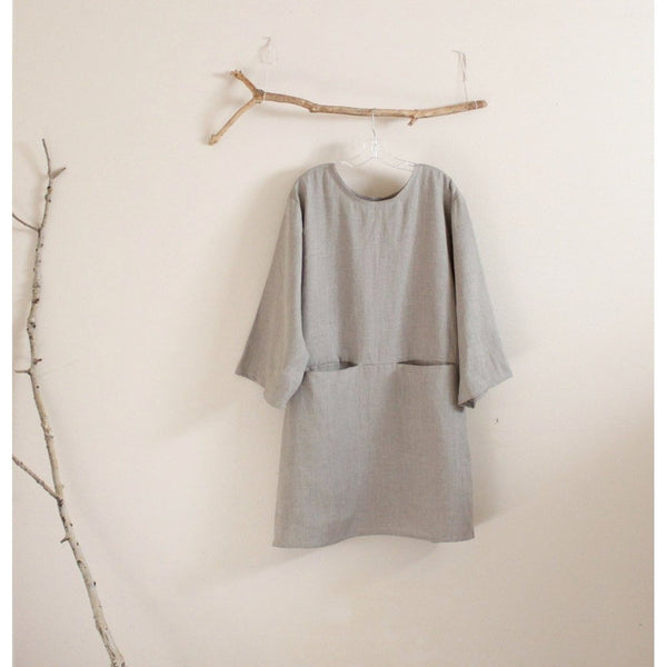 custom linen dress with hidden pockets-linen clothing by anny