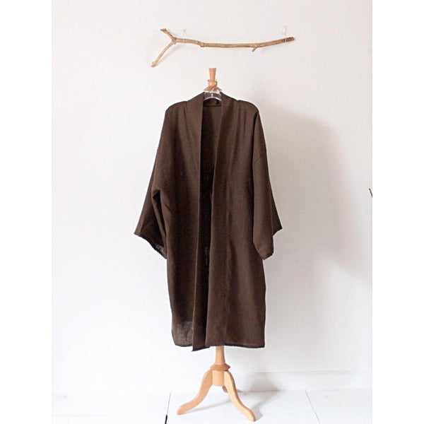 made to order geisha linen haori inspired long jacket