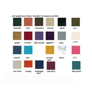 order medium linen swatches - linen clothing by anny