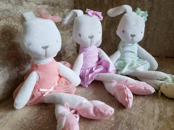 Ballerina Floopy Eared Rabbit Plush Doll