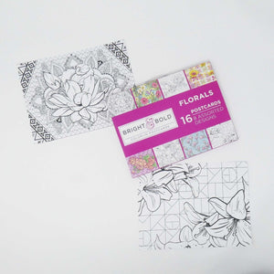 Coloring Floral Postcard - Imaginations Unbound