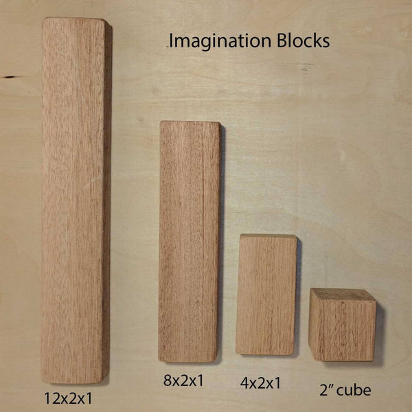 Deluxe Mixed Imagination Mahogany Wood Building Blocks blocks Imaginations Unbound