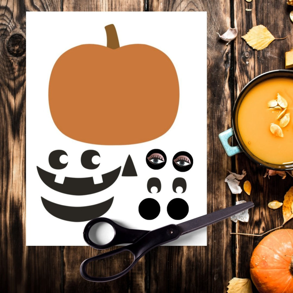 Freebie Jack O Lantern Cut and Paste Activity - Imaginations Unbound