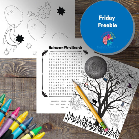 Friday Freebie - Word Search, I Spy Game, and Simple Coloring Page - Imaginations Unbound