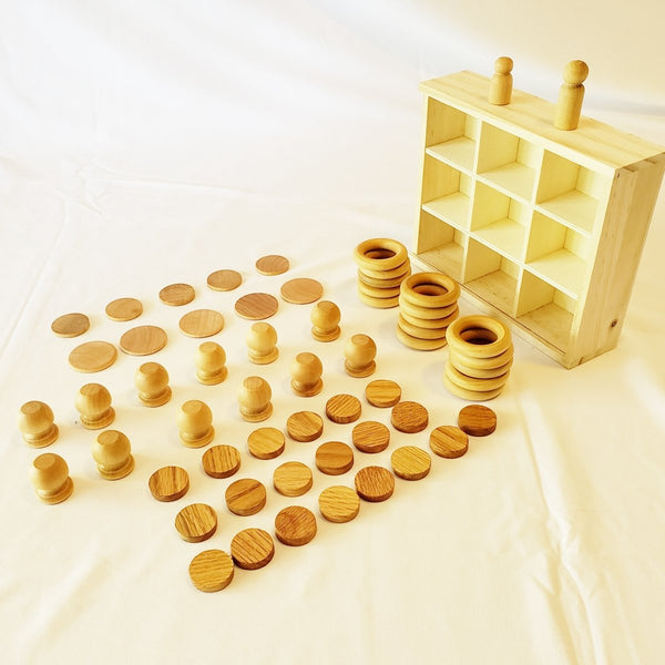Montessori 60 Pieces Building Loose Parts Play Tinker Kit - Imaginations Unbound