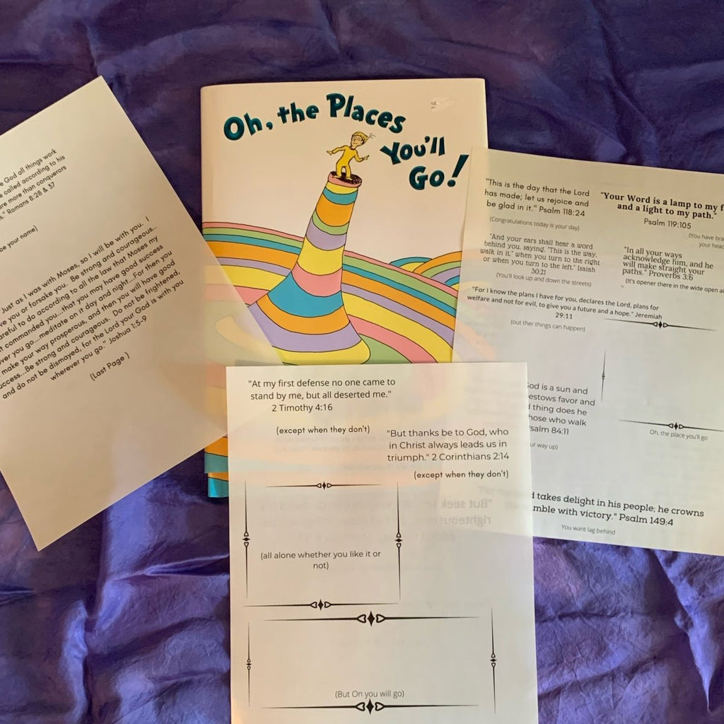 PDF of Bible Verses to Go With Dr. Seuss All the Place You Will Go Freebie - Imaginations Unbound