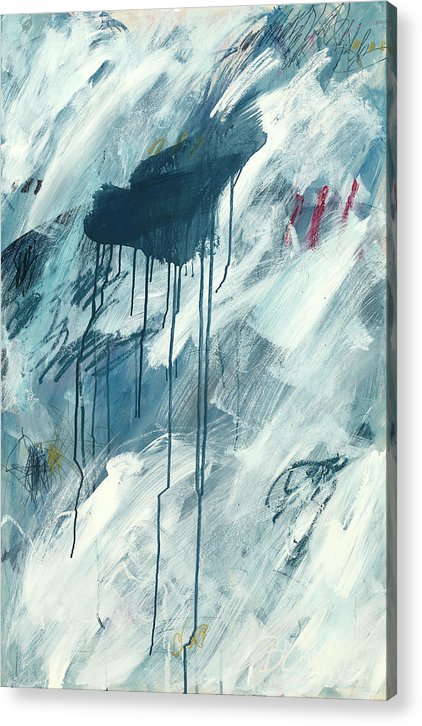 Blue Abstract 1 - Acrylic Print