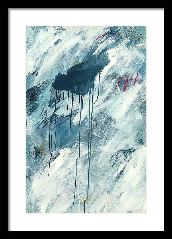 Blue Abstract 1 - Framed Print