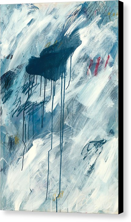 Blue Rain 1 - Canvas Print