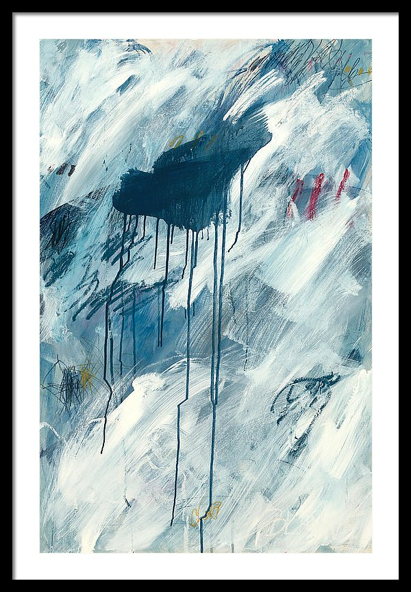 Blue Rain 1 - Framed Print