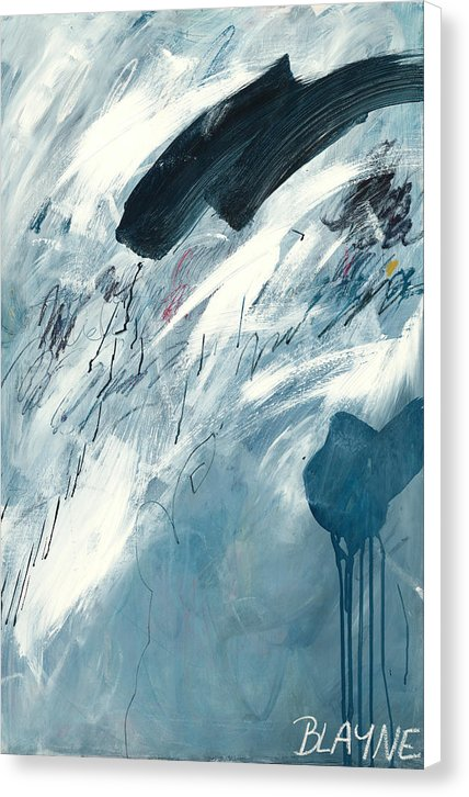 Blue Rain 2 - Canvas Print