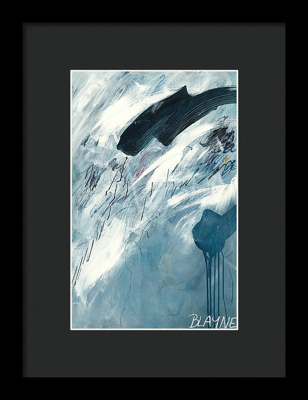 Blue Rain 2 - Framed Print