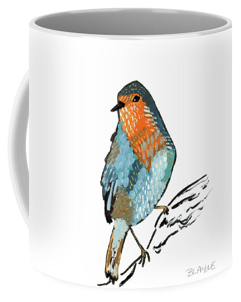 Orange And Blue Bird - Mug