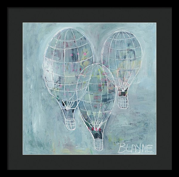 Three Balloons - Framed Print