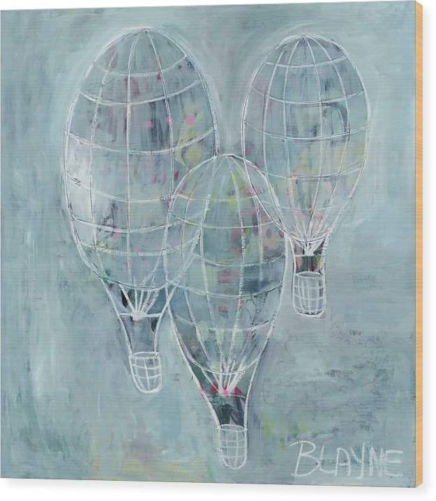 Three Balloons - Wood Print