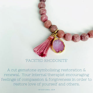 Faceted Rhodonite Gemstone
