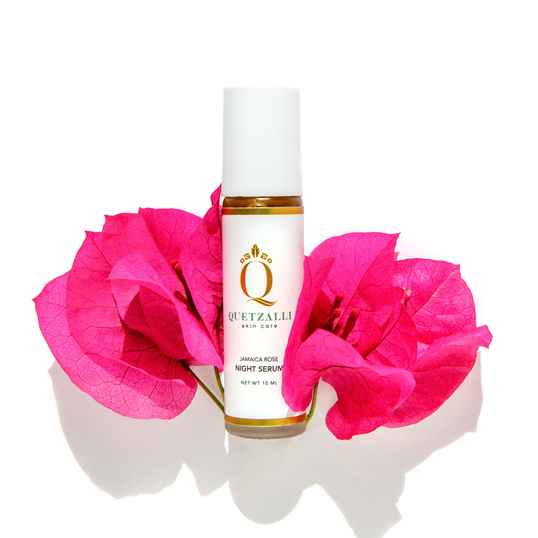 Quetzalli Skin Care Non Toxic Jamaica Rose Night Serum Inspired by the Ancient Aztec & Mayan empires. Organic Vegan Cruelty Free