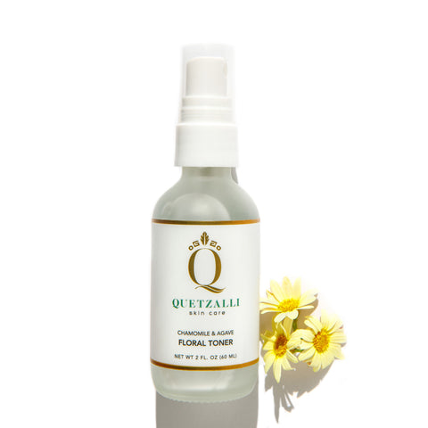 Quetzalli Skin Care Non Toxic Chamomile & Agave Floral Toner  Inspired by the Ancient Aztec & Mayan empires. Organic Vegan Cruelty Free