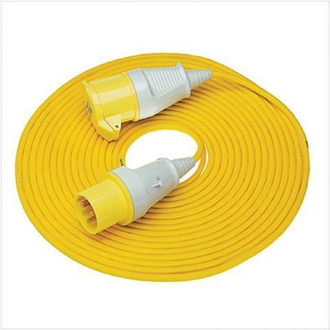 110 Volt 16a x 14m Extension Lead - Orbit - Site Electrical - Lapwing UK