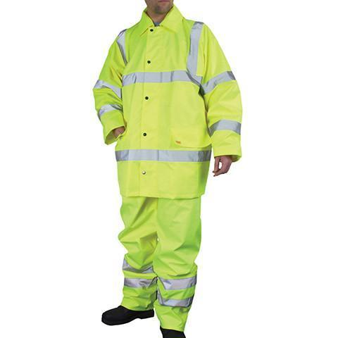 Yellow Hi Viz Waterproof Jacket & Trouser Set