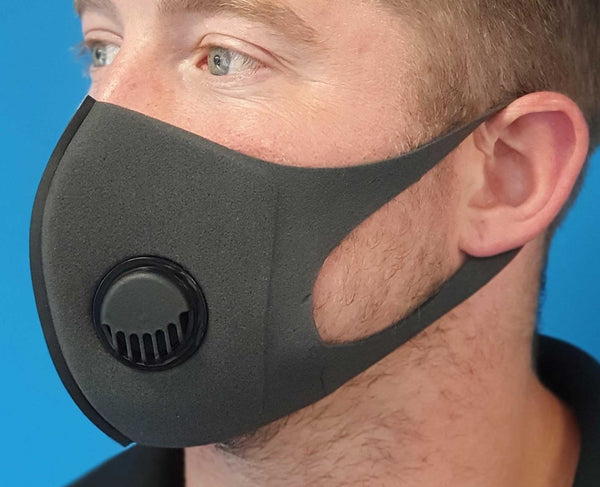 Valved Foam Fabric Face Mask