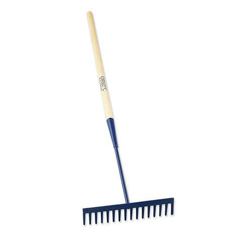 16 Square Teeth Asphalt Rake with Wooden Handle