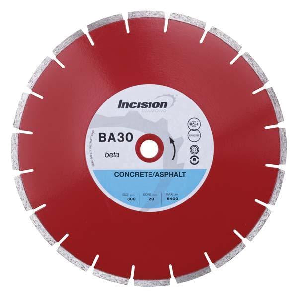 BA30-350/25 Beta Range Diamond Blade for Concrete and Asphalt Products.