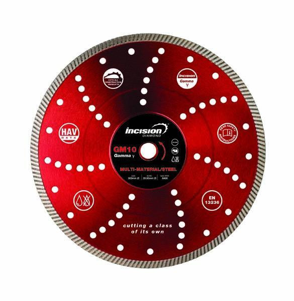 GM10-300/20 Gamma Range Multi-Hard /Steel Diamond Blade