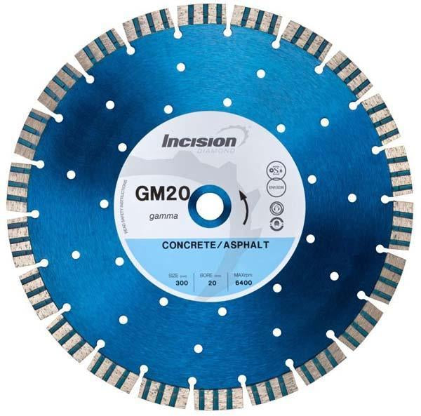 GM20-350/20 Gamma Range General Purpose & Concrete Products Diamond Blade