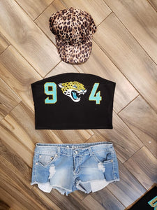 Jacksonville Jaguars 904 Tube Top or Tee