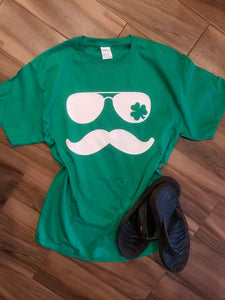 Mustache St Patrick's Day Tee