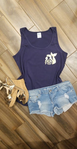 Metallic Mermaid Monogram Tee