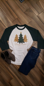 Leopard Print Christmas Tree Shirt