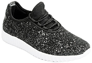 Black Glitter Glam Sneakers