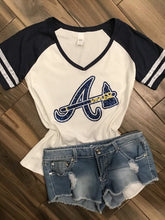 Atlanta Braves Inspired Glitter Tee