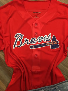 Atlanta Braves Inspired Baseball Jersey