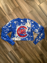 Chicago Cubs Distressed Bleached Tee