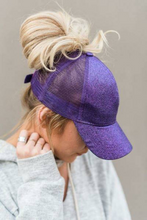 CC Glitter Messy Bun Ball Cap