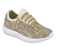 Gold Glitter Glam Sneakers