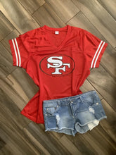 San Francisco 49ers Inspired Glitter Jersey