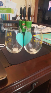 Like Mother Like Daughter Stemless Wine Glasses