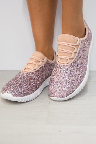 Pink Glitter Glam Sneakers
