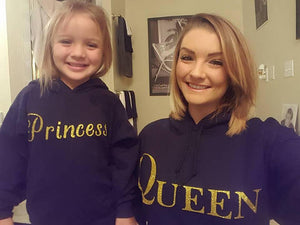 Matching Queen and Princess or Prince Hoodie Set - Mommy and Me Hoodies