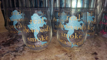 Real Mermaids Smoke Seaweed Wine Glass
