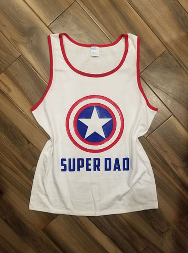 Super Dad Captain America Shirt
