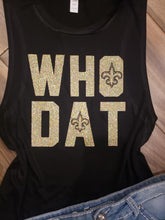 New Orleans Saints Who Dat Glitter Tee