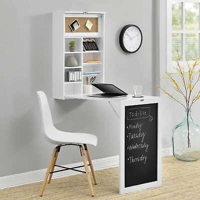 Wall-integrated Desk Space-Saving